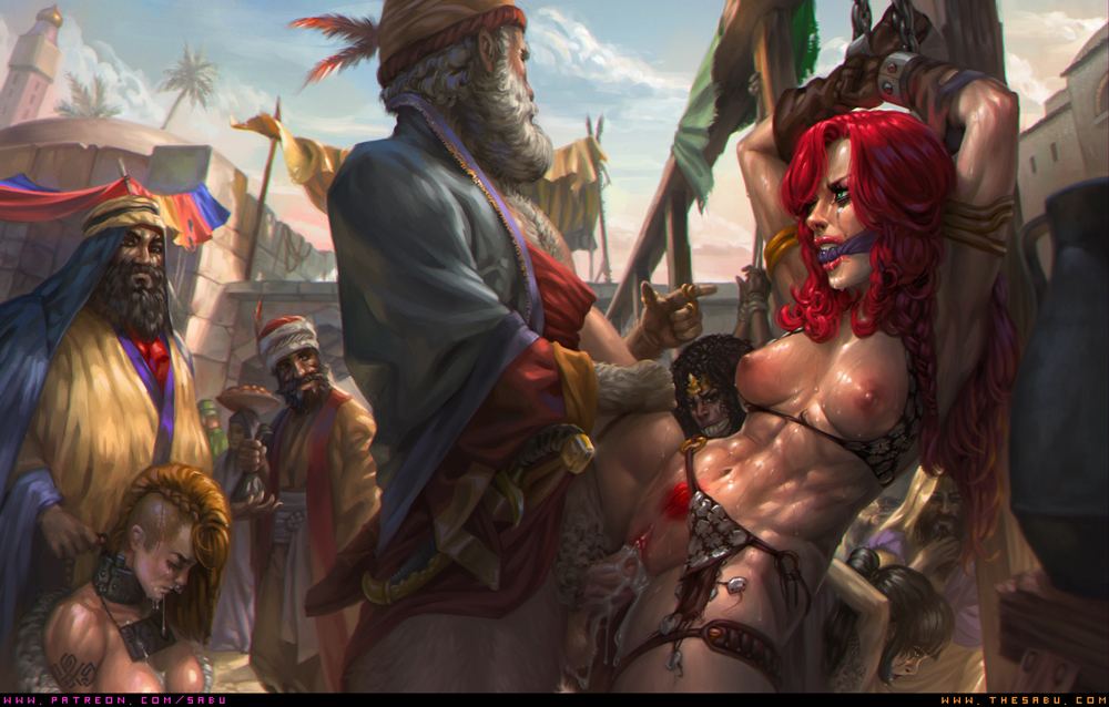 Misc Pic 006: Red Sonja and the Slave Market.